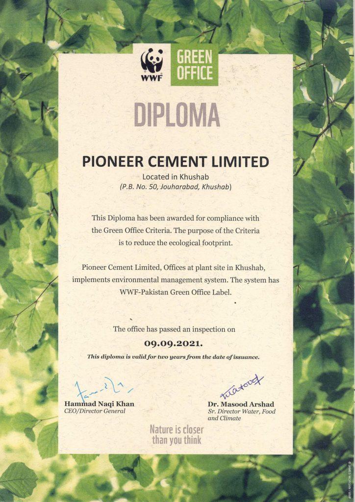 green-office-certificate